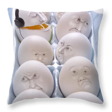 Singing Egg Throw Pillow