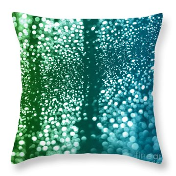 Singing In The Shower Abstract Square Format 3 Throw Pillow by Natalie Kinnear