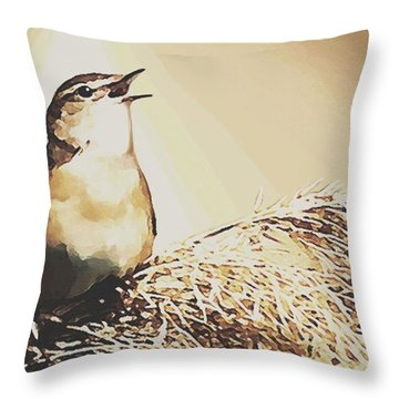 Singing My Heart Out Throw Pillow