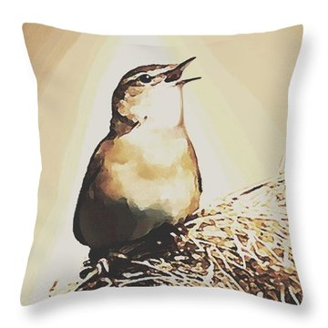 Singing My Heart Out Throw Pillow by Sophia Schmierer