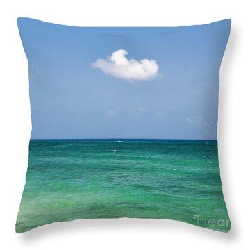 Single Cloud Over The Caribbean Throw Pillow
