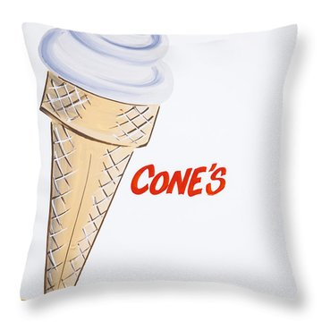 Single Cone Throw Pillow