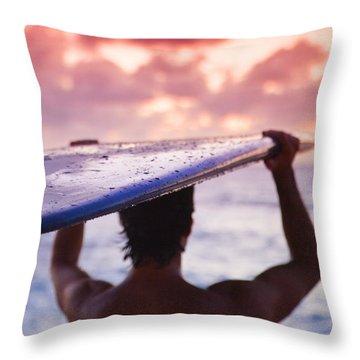 At The Beach Throw Pillows