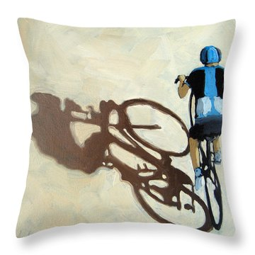 Single Focus Bicycle Art Throw Pillow