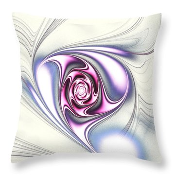 Single Rose Throw Pillow by Anastasiya Malakhova