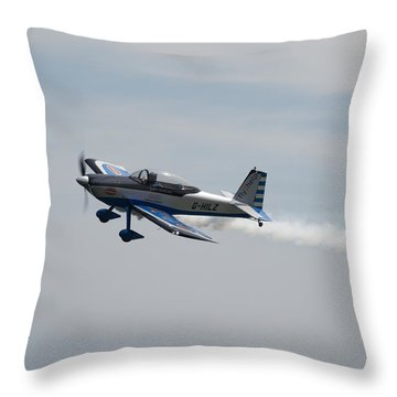 Throw Pillow featuring the photograph Single Rv8tor Sunderland Air Show 2014 by Scott Lyons