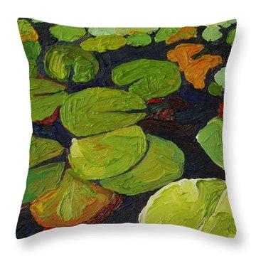 Singleton Lily Pads Throw Pillow