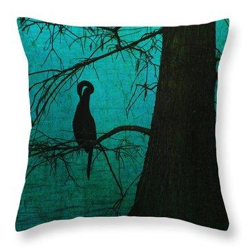 Singular Anhinga  Throw Pillow
