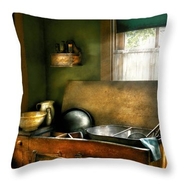 Sink - The Kitchen Sink Throw Pillow by Mike Savad