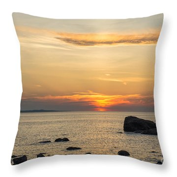 Sinking Beneath The Horizon Throw Pillow