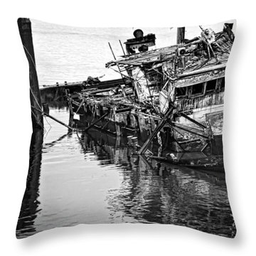 Sinking Throw Pillow by Heather Applegate