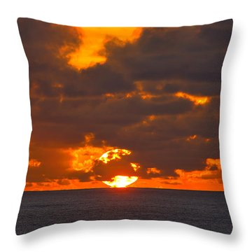 Throw Pillow featuring the photograph Sinking In The Sea by Greg Norrell
