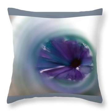 Throw Pillow featuring the mixed media Sinking Into Beauty by Frank Bright