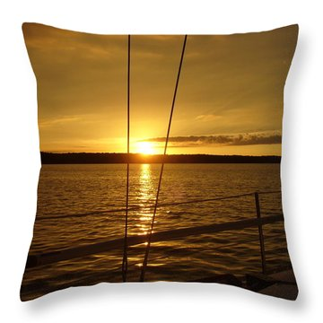 Throw Pillow featuring the photograph Stay Golden by Deena Stoddard
