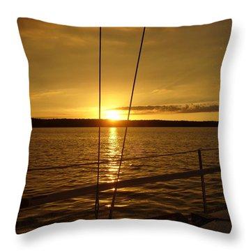 Stay Golden Throw Pillow by Deena Stoddard