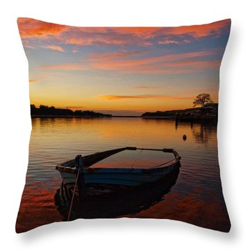 Throw Pillow featuring the photograph Sinking by Trena Mara