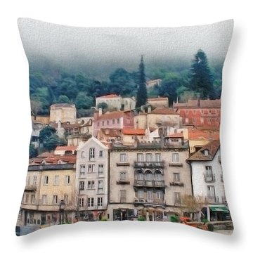 Sintra Townscape Throw Pillow