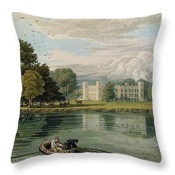 Sion House, Engraved By Robert Havell Throw Pillow by William Havell
