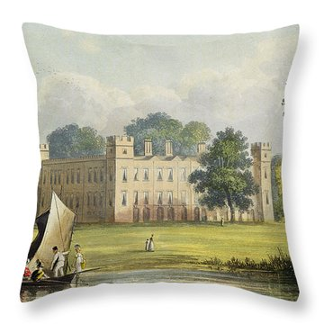 Sion House, From R. Ackermanns Throw Pillow by John Gendall
