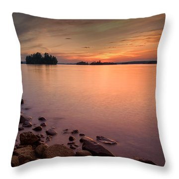Sioux Narrows Sunset Throw Pillow