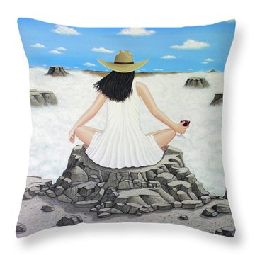 Sippin' On Top Of The World Throw Pillow by Lance Headlee