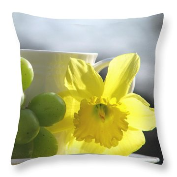 Sipping Spring Throw Pillow
