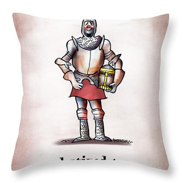 Sir Bedbug Throw Pillow