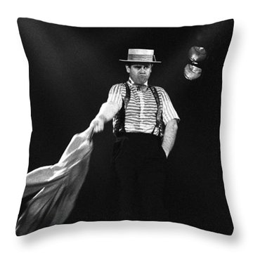 Sir Elton John Throw Pillow by Dragan Kudjerski