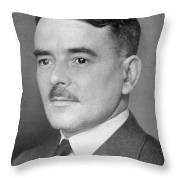 Sir Frank Whittle Throw Pillow by Granger