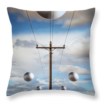 Sir I Suggest You Call The Phone Company Throw Pillow by Gary Warnimont