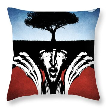 Throw Pillow featuring the digital art Sir Real by Phil Perkins