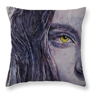 Siren Throw Pillow by Michael Creese