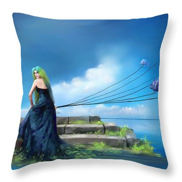 Sirens Lure Throw Pillow