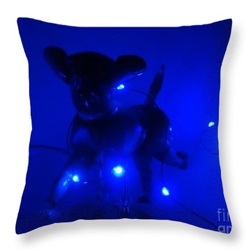 Sirius Dog Star Throw Pillow by Lyric Lucas