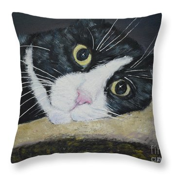 Sissi The Cat 3 Throw Pillow