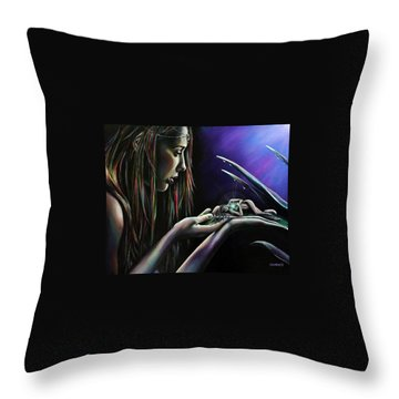 Sister Nature Throw Pillow