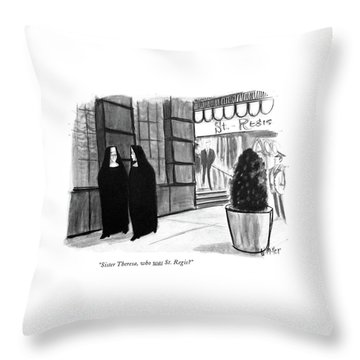Sister Theresa Throw Pillow