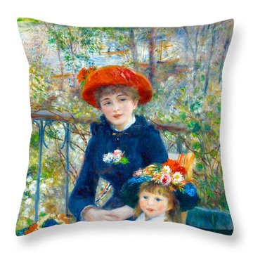 Sisters 1881 Throw Pillow by Padre Art