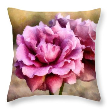 Sisters Before The Storm Throw Pillow by RC deWinter