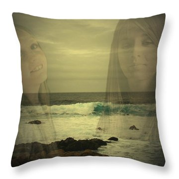Throw Pillow featuring the photograph Sisters Forever by Joyce Dickens