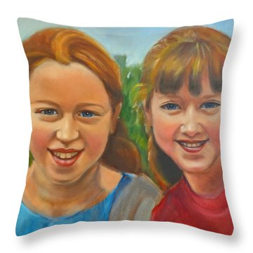 Sisters Throw Pillow by Kaytee Esser
