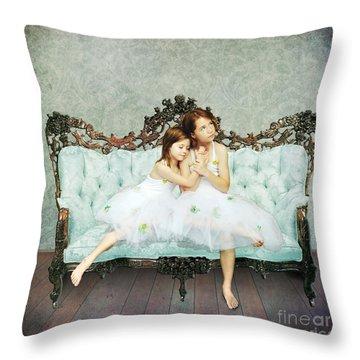Sisters Throw Pillow by Linda Lees