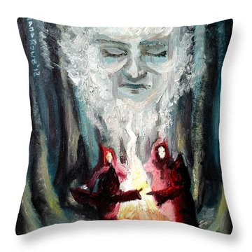 Sisters Of The Night Throw Pillow by Shana Rowe Jackson