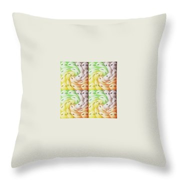 Throw Pillow featuring the digital art Sisters Of The Same Soul by Ann Calvo