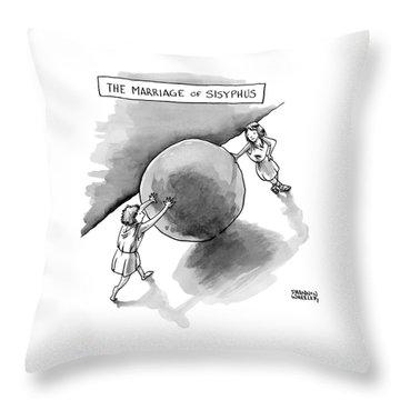 The Marriage Of Sisyphus Throw Pillow