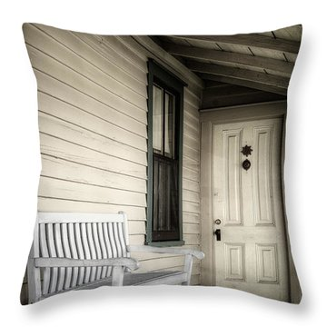 Sit Awhile Throw Pillow by Joan Carroll