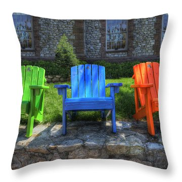 Sit Back Throw Pillow