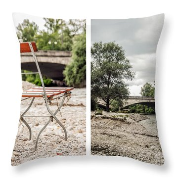 sit down... white I Throw Pillow by Hannes Cmarits