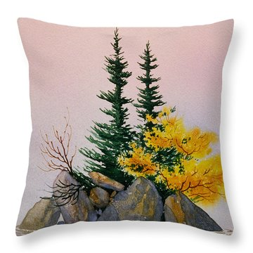 Throw Pillow featuring the painting Sitka Isle by Teresa Ascone