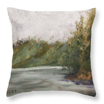 Sitka Mist Throw Pillow by Alan Mager